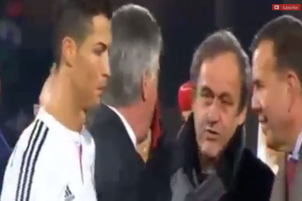 (VIDEO) ISKULIRAO PLATINIJA: Ronaldo nije pozdravio predsednika UEFA
