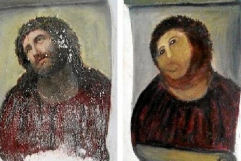 NOVA UMETNOST: Uništena slika Isusa privukla turiste u špansko selo