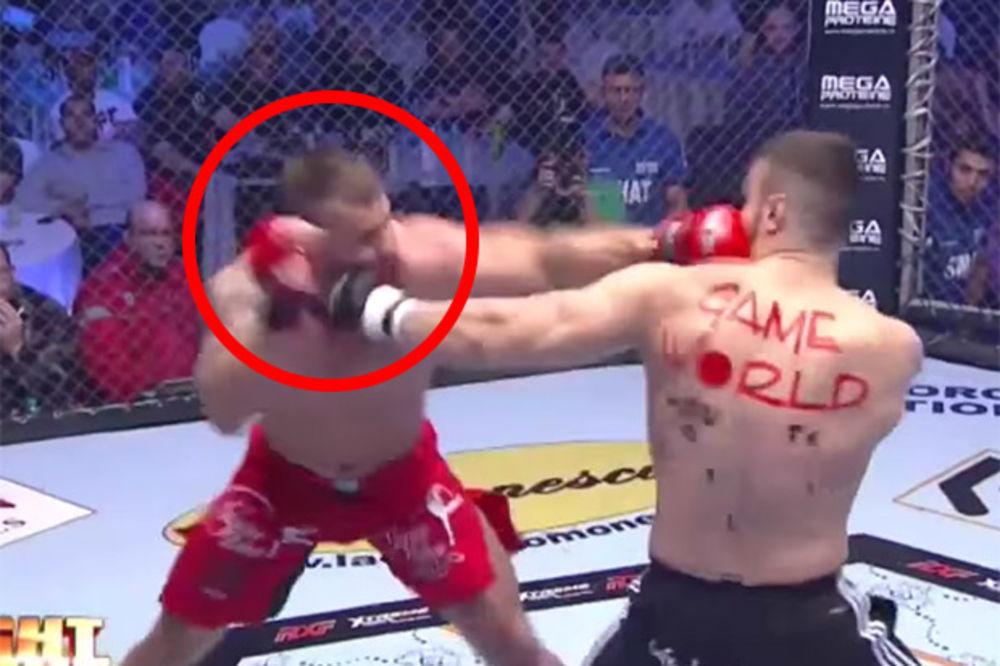 (VIDEO) PATOSIRAO GA: Pogledajte brutalan nokaut krošeom koji niko nije video