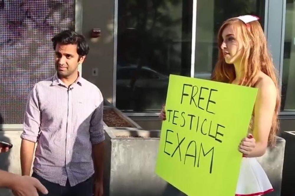 (VIDEO I FOTO) ONI SU PRISTALI:Da li biste vi dozvolili da vam pregledaju testise nasred ulice