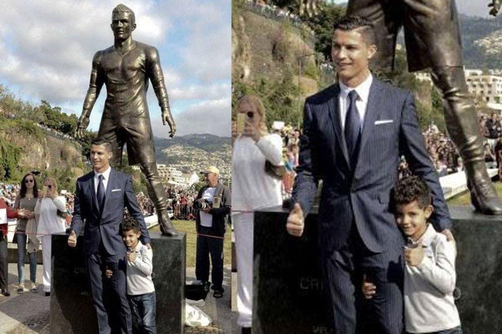 SEKSI SPOMENIK: Ronaldova statua doživela erekciju!