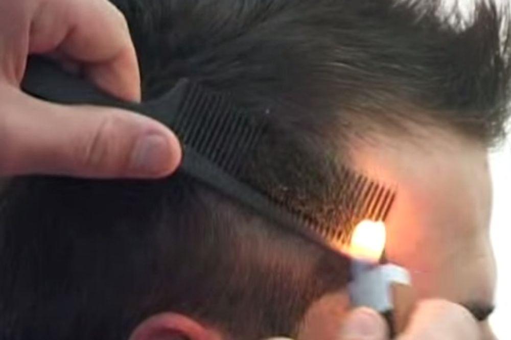 (VIDEO) NE KORISTI MAKAZE: Da li biste se šišali kod ovog frizera?