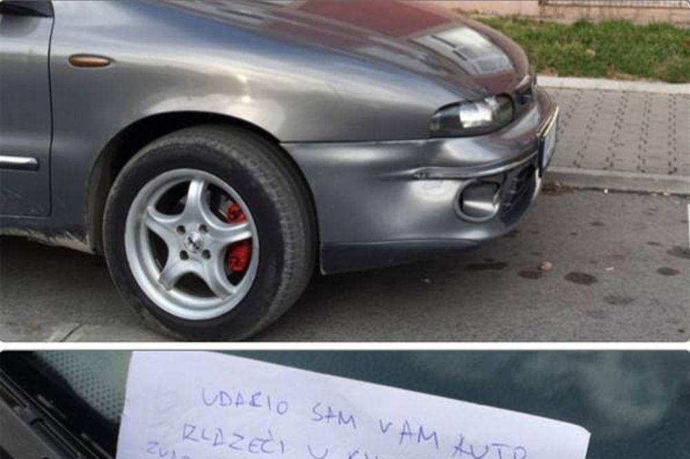 USIJAO DRUŠTVENE MREŽE: Poruka ovog Novosađanina na parkingu je oduševila Balkan!