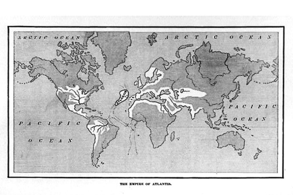 Gde se nalazila... Mapa sveta sa Atlantidom