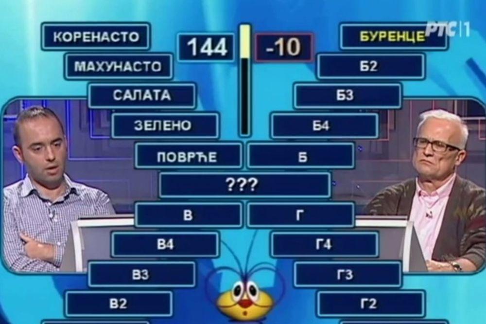 (VIDEO) POBEDIO LEGENDU SLAVOLJUBA: Vasilije osvojio minus 10 poena u Slagalici!