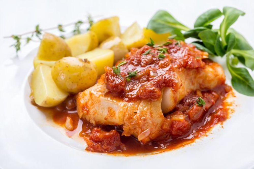 Riba u sosu od brendija