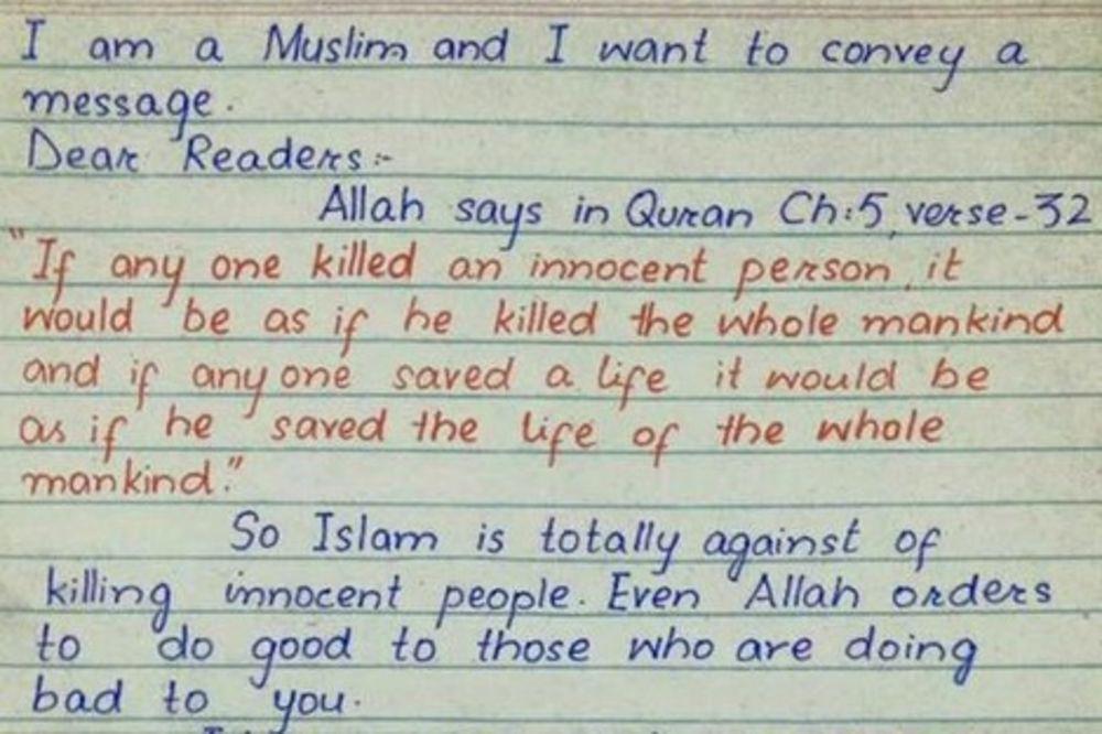 PISMO MUSLIMANA KOJE JE ZAPALILO FB I TVITER: Ubice novinara su teroristi a ne sledbenici Alaha!