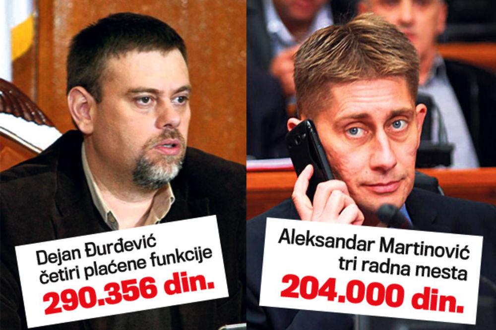 NEMAJU MERU: Đurđević i Martinović ne daju fotelje, mesečno primaju pola miliona!