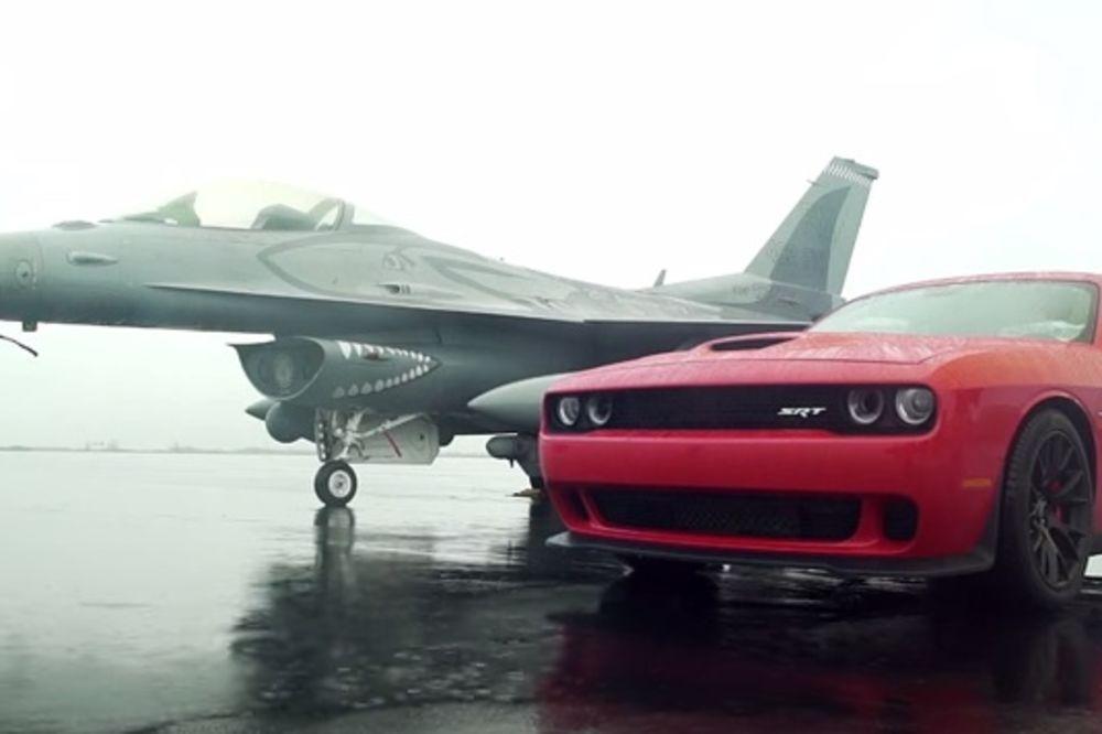 (VIDEO) DA LI JE AUTO BRŽI OD AVIONA: Trka superautomobila i borbenog lovca F16