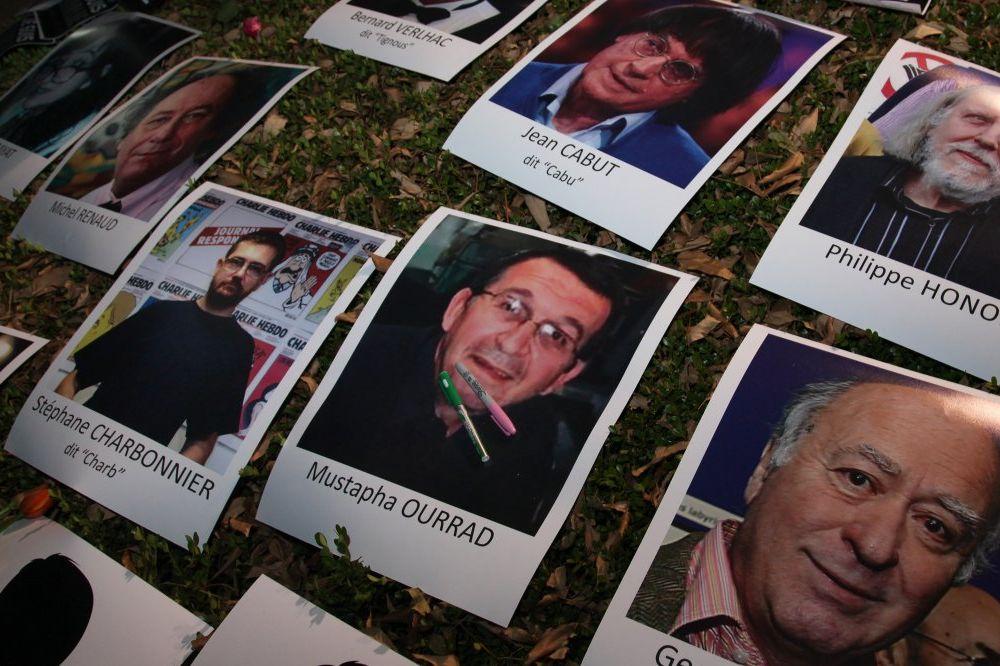 Novinari žrtve napada na redalciju Šarli ebdo (Foto AP)