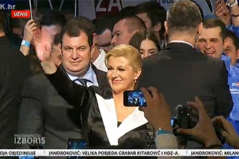 (VIDEO) HRVATSKA DOBILA PRVU PREDSEDNICU: Kolinda Grabar Kitarović slavi pobedu