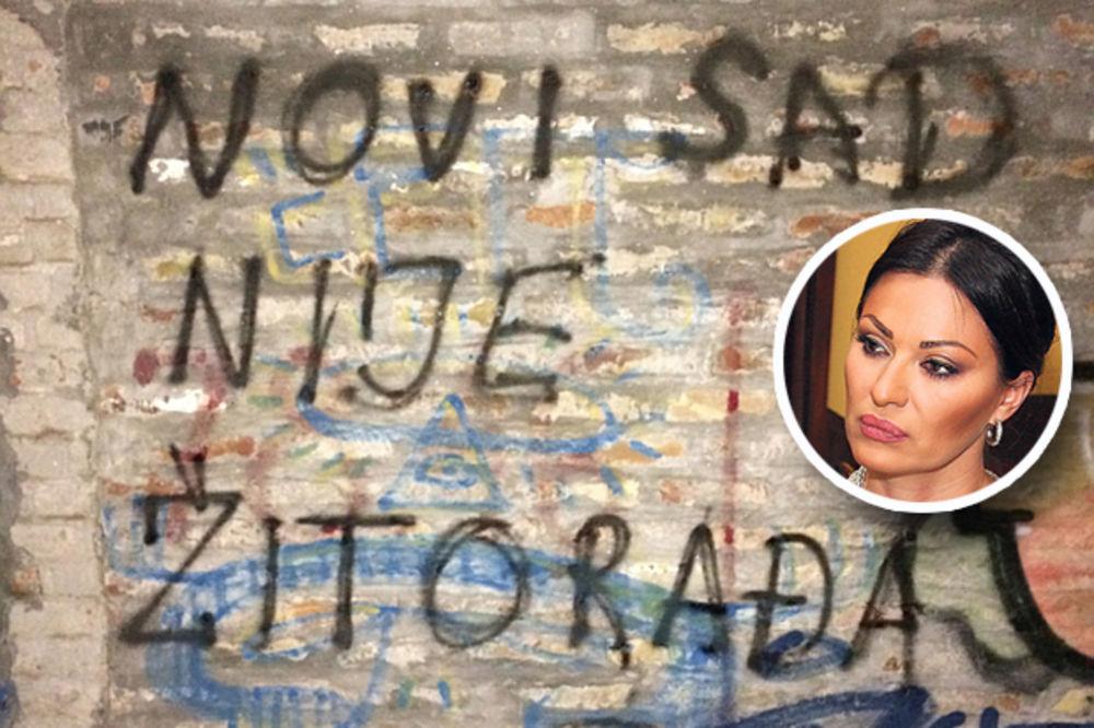 (FOTO) GRAFITI PROTIV CECE U NOVOM SADU: Ovo nije Žitorađa!