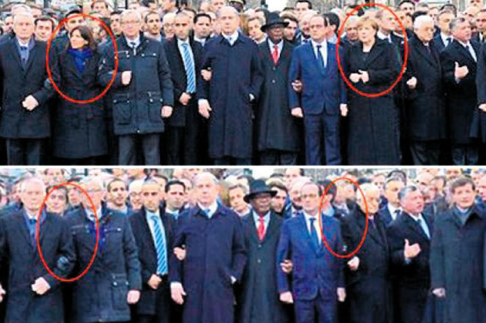 IZRAELSKI LIST: Obrisali Merkelovu sa slike sa marša!