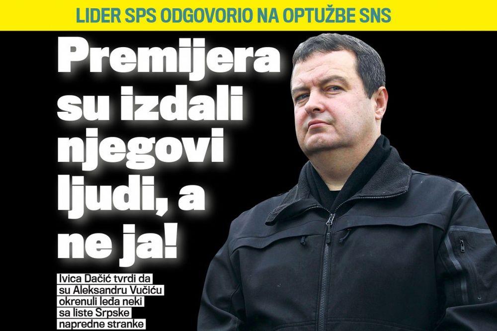 Dačić: Vučića su izdali njegovi ljudi, a ne ja