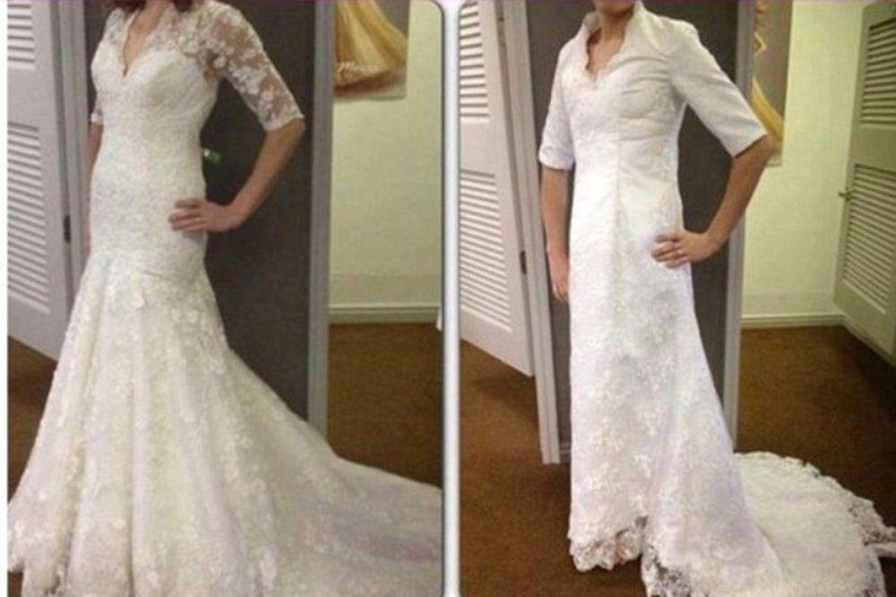 NE POKUŠAVAJTE: Evo šta se dešava kada naručite venčanicu preko interneta