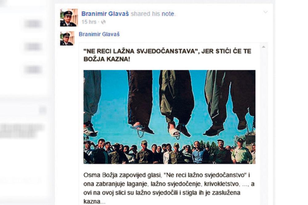 KRVNIK: Branimir Glavaš preti smrću svedocima!