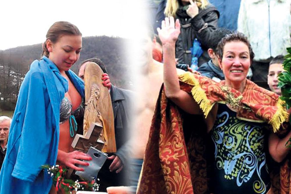 BOGOJAVLJENJE: Hrabre žene plivale za časni krst i pobedile!