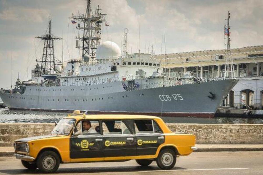 NENAJAVLJEN GOST: Ruski špijunski brod u Havani dan pre američkih pregovarača!