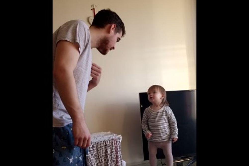 (VIDEO) PRKOSNA ĆERKICA: Ovako se mala Lola svađa sa tatom