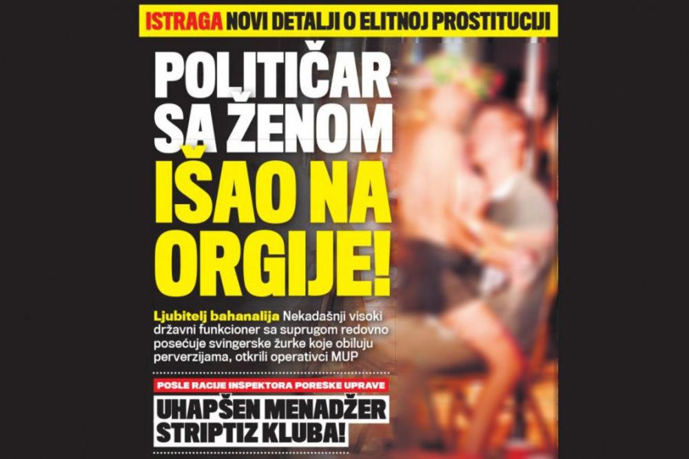 GRUPNJAK: Političar orgijao sa ženom i prostitutkama!