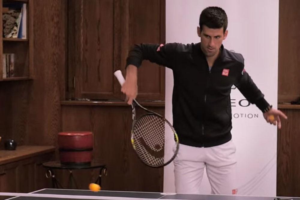 (VIDEO) NOLE MOŽE SVE: Đoković igrao ping pong teniskim reketom