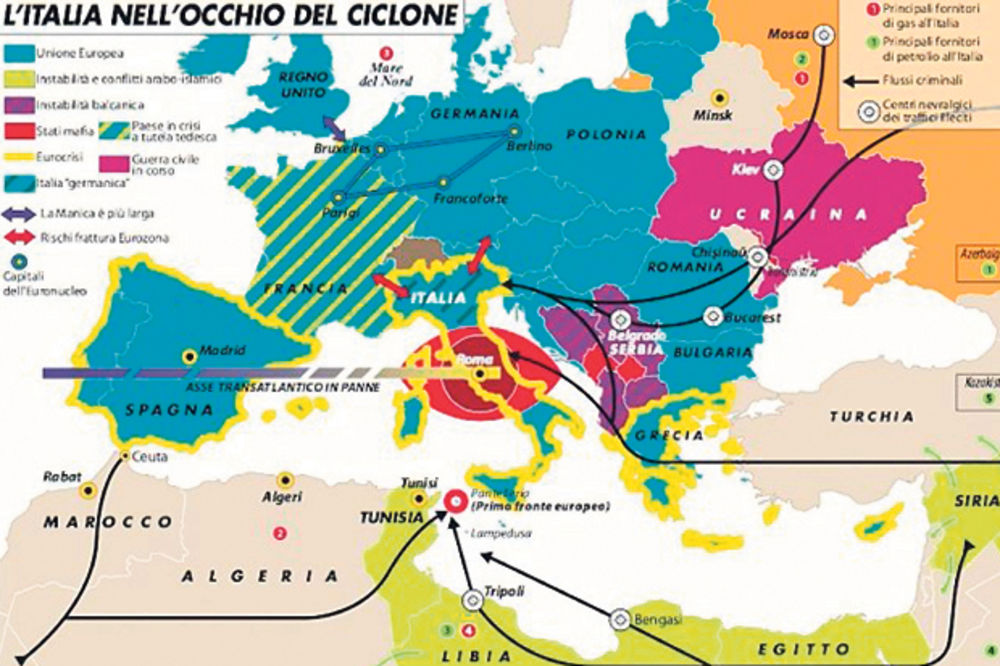 MAPA KRIMINALA: Srbija je nestabilna zemlja, Kosovo mafijaško područje!