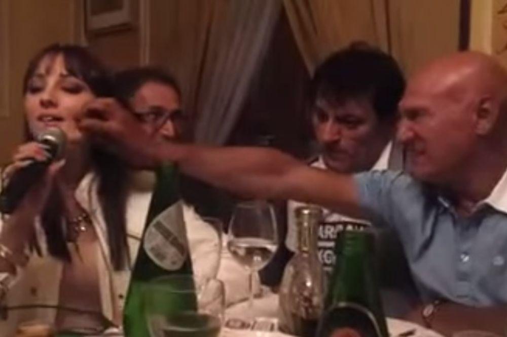 (VIDEO) MOGLA BI DA MU BUDE ĆERKA: Šaban mrtav pijan psovao koleginicu Aleksandru Prijović!