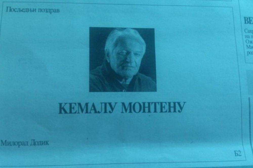 ČITULJA OD PREDSEDNIKA SRPSKE: Milorad Dodik oprostio se od Kemala Montena!