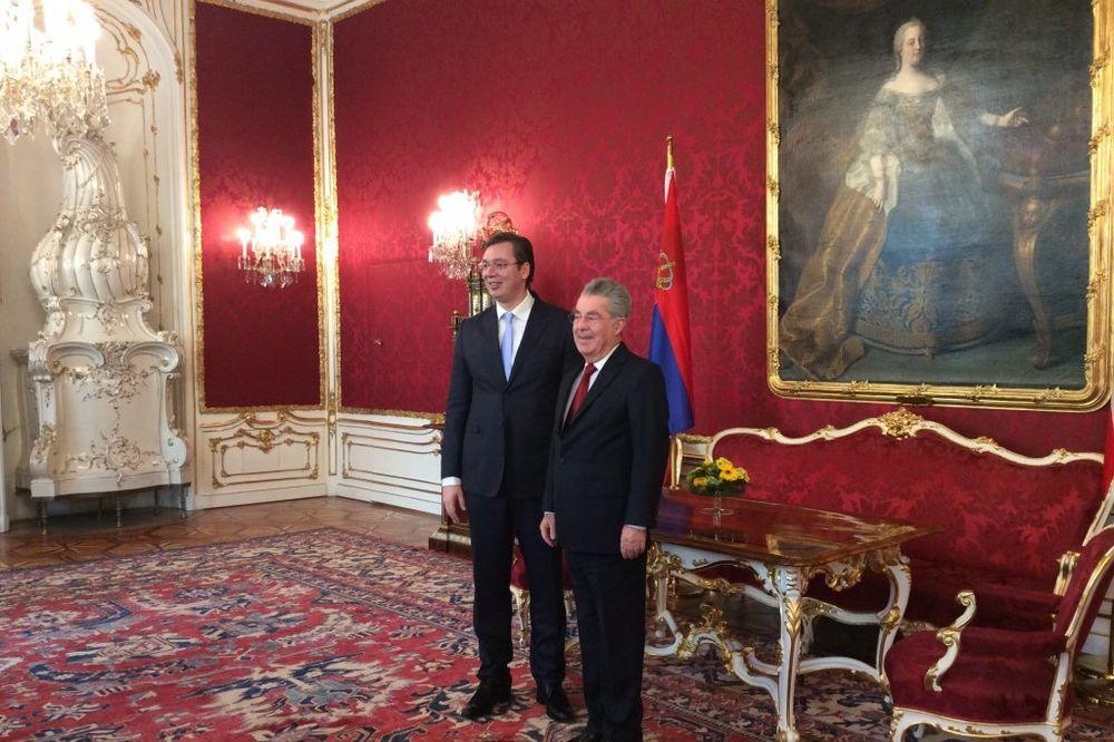VUČIĆ U BEČU: Premijer razgovarao sa predsednikom Austrije