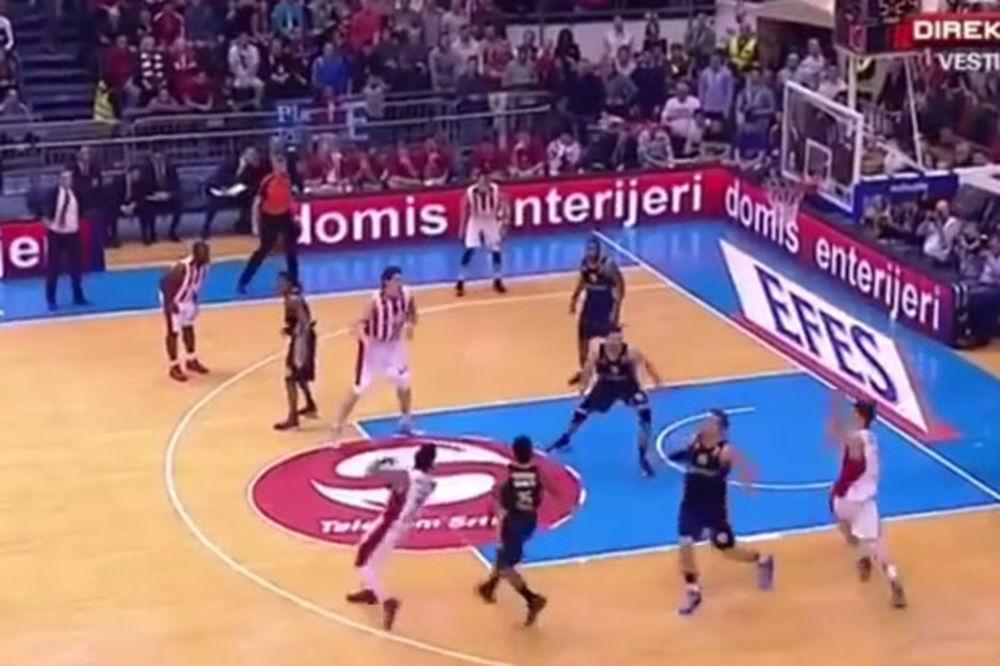 (VIDEO) TO SE ZOVE ASISTENCIJA: Pogledajte kako je Vilijams digao navijače Zvezde na noge