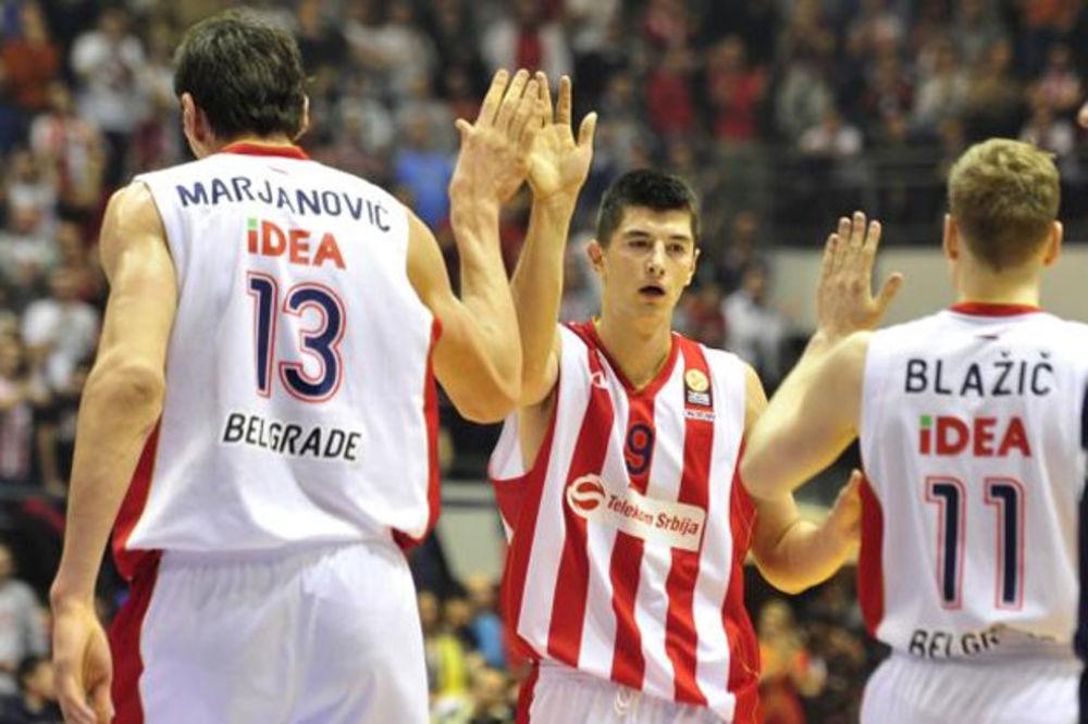 (VIDEO) Pogledajte najbolje poteze košarkaša Zvezde u pobedi nad Albom
