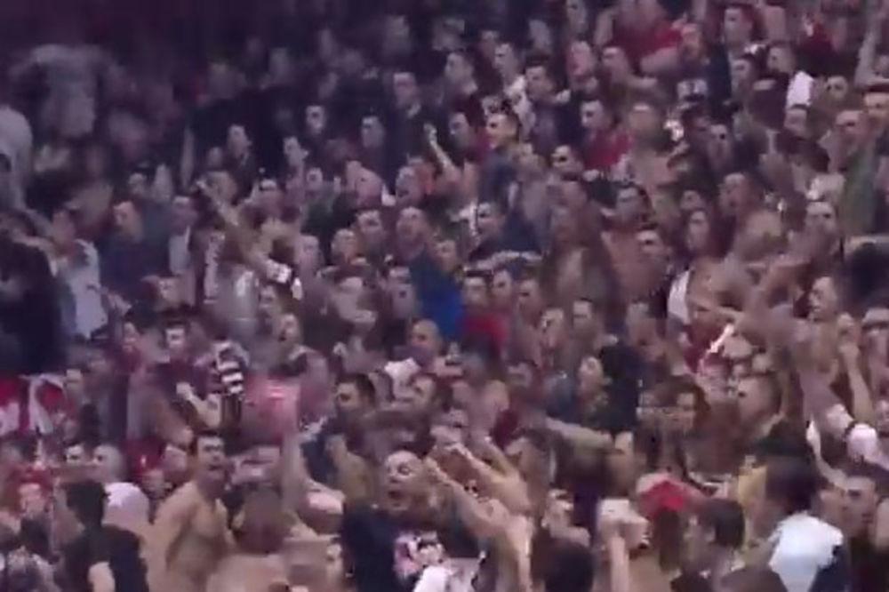 (VIDEO) LUDILO U PIONIRU: Pogledajte kako su navijači Zvezde vodili tim do pobede