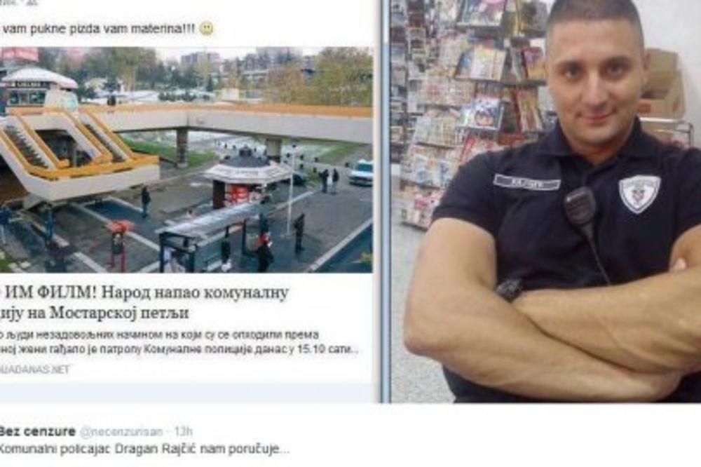 KOMUNALNI POLICAJAC PRETI BEOGRAĐANIMA: Tek će da vam pukne glava...