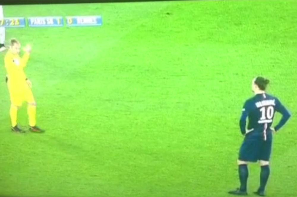 (VIDEO) GDE BAŠ NJEGA: Sudija pozvao Ibrahimovića, njegova reakcija će vas nasmejati