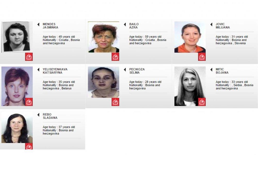 (FOTO) DA LI STE IH VIDELI U SRBIJI: Ovo je 7 Bosanki koje traže sve policije sveta!