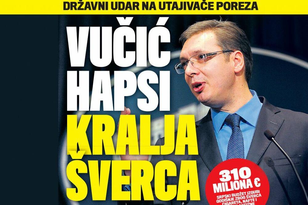DANAS U KURIRU DRŽAVNI UDAR NA UTAJIVAČE POREZA: Vučić hapsi kralja šverca!