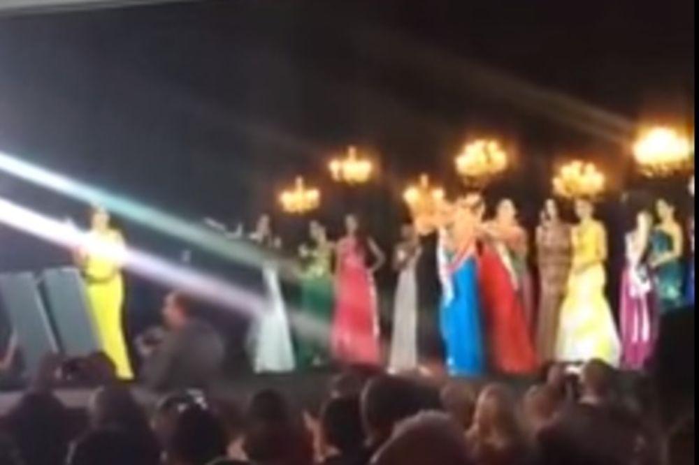 (VIDEO) SKANDAL NA IZBORU ZA MIS: Prva pratilja otela krunu pobednici i izvređala je!