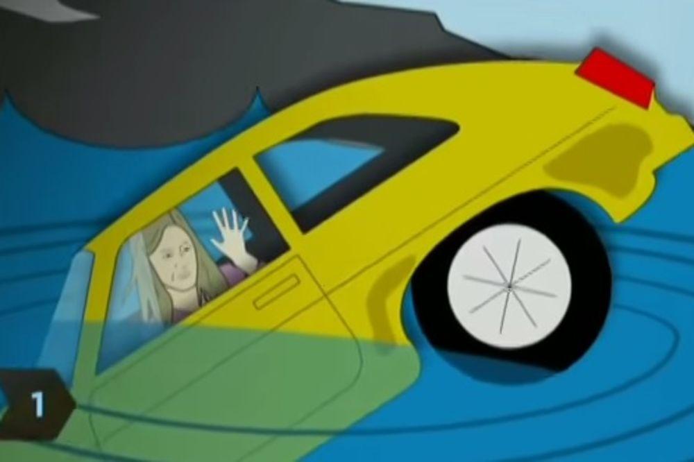 (VIDEO) OVO VAM MOŽE SPASTI ŽIVOT: 5 stvari koje bi trebalo da uradite u automobilu koji tone!