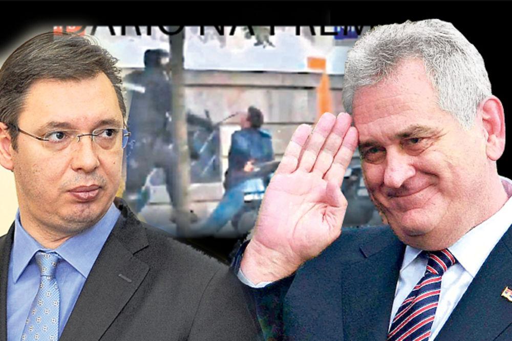 UDARIO NA PREMIJERA: Tomislav Nikolić odlikovao žandarme koji su tukli Vučića!