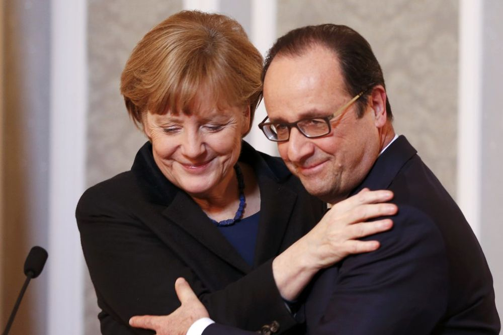 Angela Merkel i Fransoa Oland: Njihov tajni sastanak samo nekoliko dana po Olandovom stupanju na dužnost prvi je prisluškivan (Foto: Reuters)