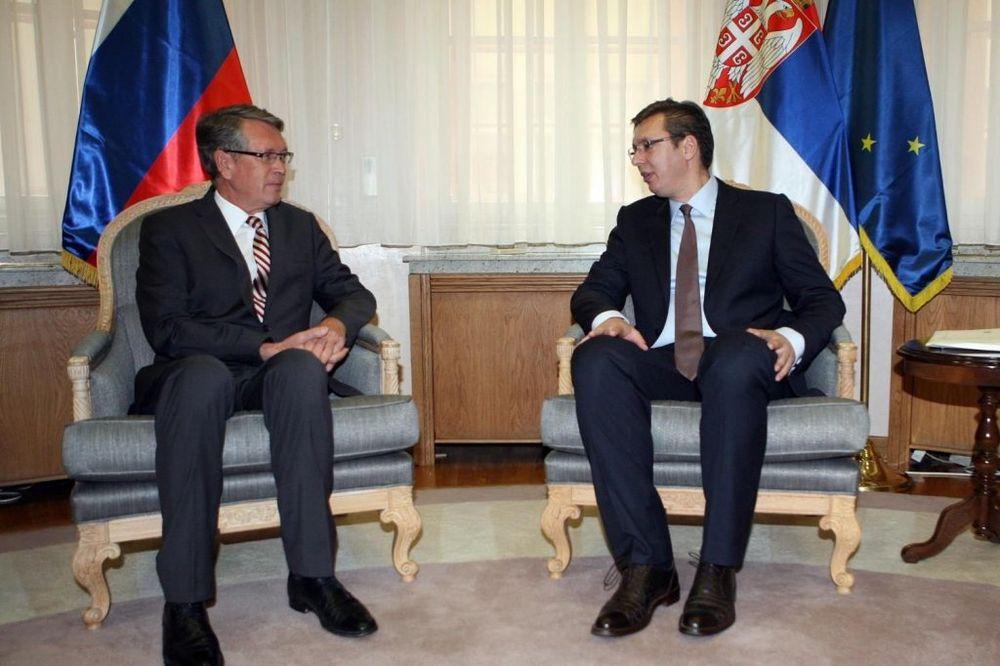 Premijer Vučić danas sa ambasadorom Čepurinom