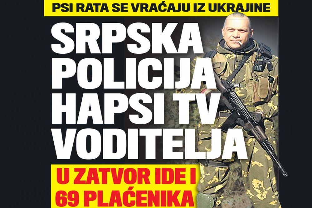 PSI RATA IZA REŠETAKA: Policija hapsi TV voditelja!
