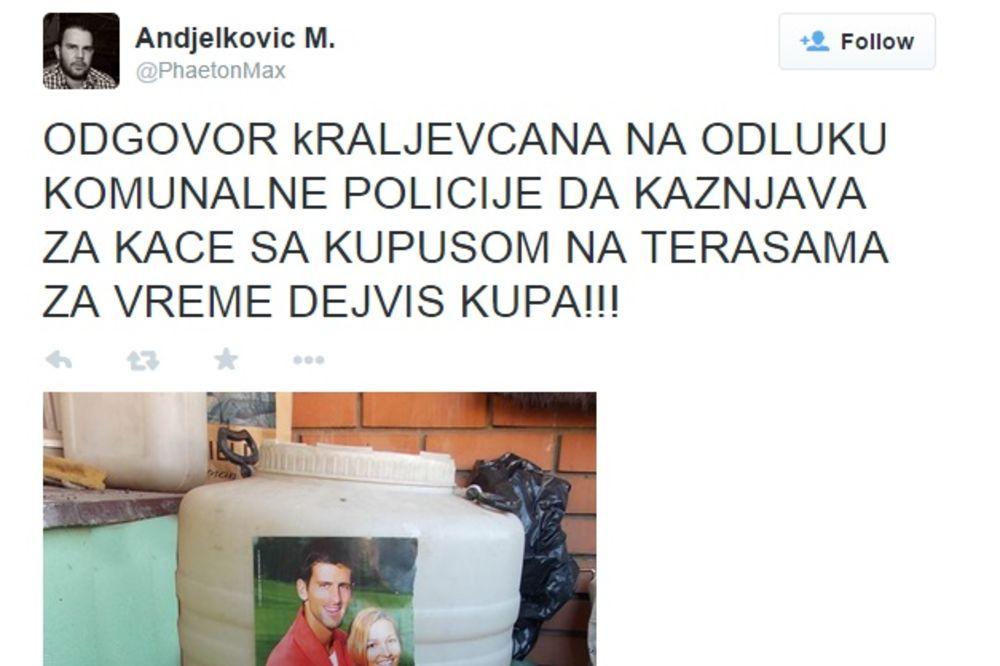 ĐOKOVIĆI BRANE KISELI KUPUS OD KOMUNALACA: Ova fotografija iz Kraljeva nasmejala je celu Srbiju!