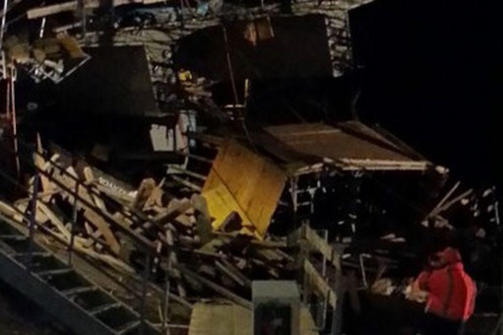 SREĆA U NESREĆI: Most pao na prugu samo nekoliko minuta posle prolaska voza!