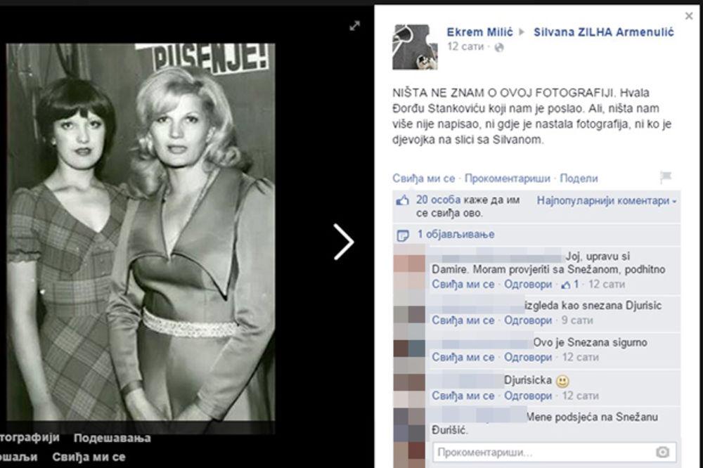SNEŽANA ĐURIŠIĆ OTKRILA: Ja sam na slici, sa Silvanom sam se slikala u Domu sindikata 1971!