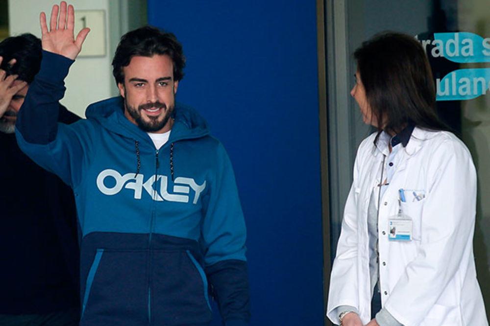 NIJE MU NIŠTA: Alonso izašao iz bolnice