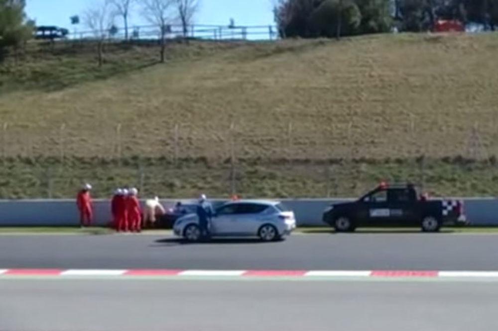 (VIDEO) SNIMAK GOVORI SVE: Pogledajte paničnu reakciju posle Alonsovog udesa