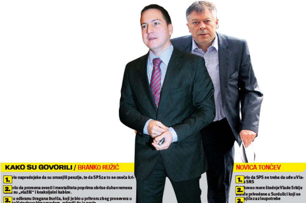 PRZNICE: Ružić i Tončev jedini iz SPS udaraju na Vučića