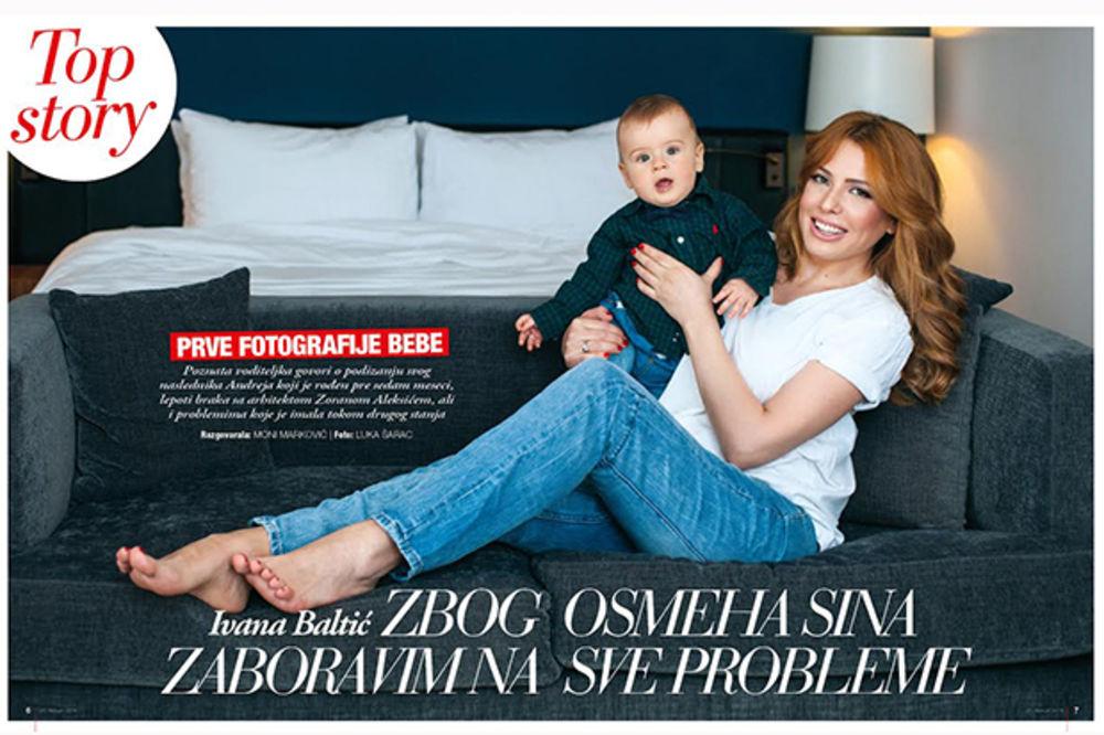 IVANA BALTIĆ ZA STORY: Prve fotografije sina Andreja