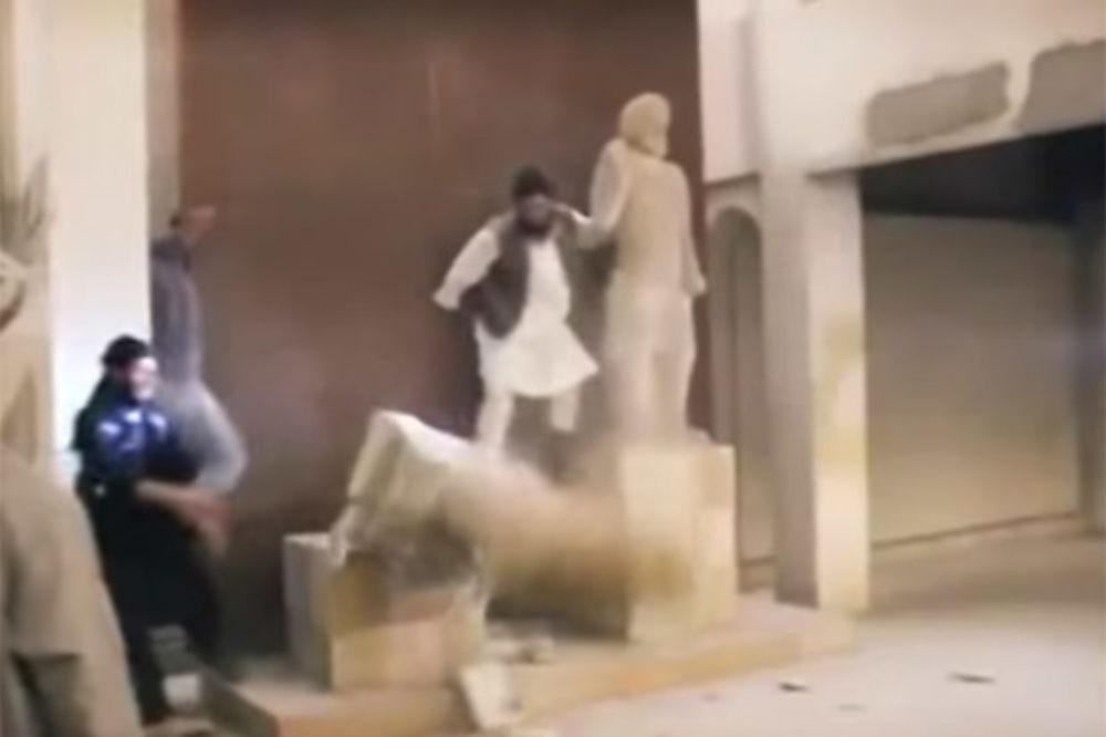 (VIDEO) UBIJAJU I KULTURU: Islamska država maljevima uništila neprocenjive asirske spomenike